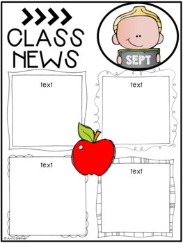 EDITABLE Class Newsletter Templates {for ALL year}