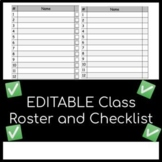 FREE Class Roster and Checklist: Completely Editable!