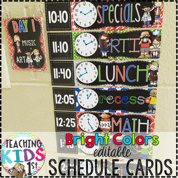 {BRIGHT COLORS} EDITABLE Class Schedule