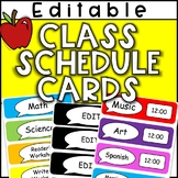 Editable Class Schedule Cards (Color, B&W and Clock Versions!)