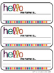 EDITABLE Class Tags & Labels {Simple & Bright}