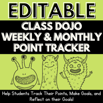 EDITABLE ClassDojo Weekly and Monthly Point Tracker