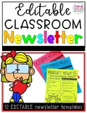 EDITABLE Classeoom Newsletters