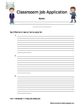 EDITABLE Classroom Application Form