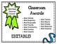 EDITABLE Classroom Award Certificates. Awards. Most