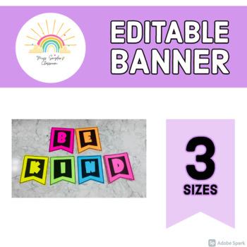EDITABLE Classroom Banner