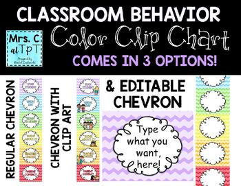 EDITABLE Classroom Behavior Clip Chart