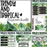 EDITABLE Classroom Decor Bundle   Trendy and Tropical Theme