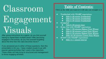 EDITABLE: Classroom Engagement Visuals