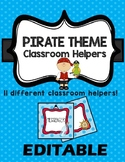 EDITABLE Classroom Helpers Pirate & Ocean Theme