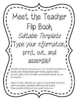 EDITABLE Classroom Information Flipbook