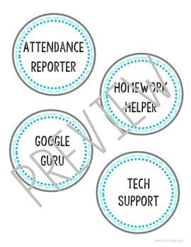 EDITABLE Classroom Jobs Display - Back to School