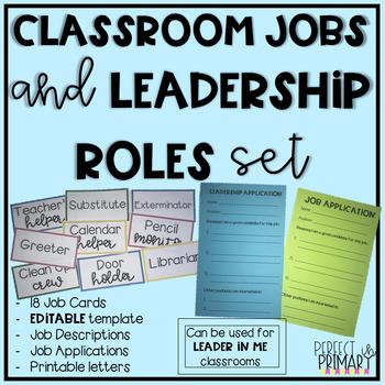 EDITABLE Classroom Jobs Leadership Roles Set