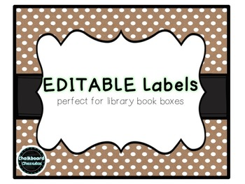 EDITABLE Labels for {EVERYTHING}