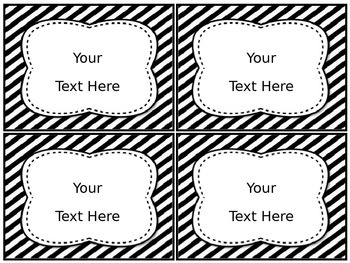 EDITABLE Classroom Labels [Black and White]