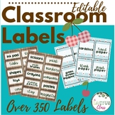 EDITABLE Classroom Labels | Cherries Edition | Natural Baby Blue