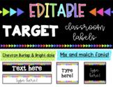 EDITABLE Classroom Labels * Fits Target Adhesive Label Pockets