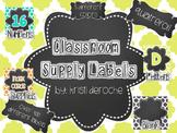 EDITABLE Classroom Labels- Quatrefoil Themed