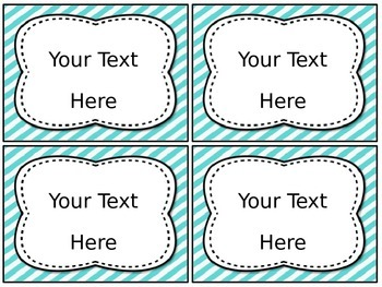 EDITABLE Classroom Labels [Teal & Tangerine]
