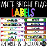 Target Adhesive Pocket Labels | Rectangle Labels | White and Bright | Editable