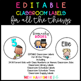 EDITABLE Classroom Labels for All the Things