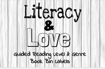 EDITABLE Classroom Library Book Labels