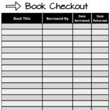 EDITABLE Classroom Library Checkout System