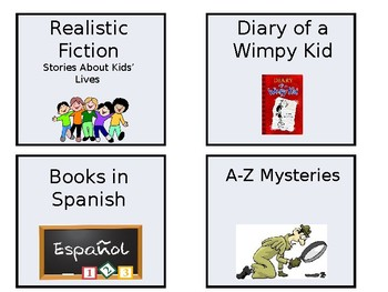 EDITABLE Classroom Library Labels (1 of 2)