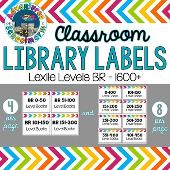 Classroom Library Labels {Lexile Levels}