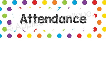 EDITABLE Classroom Lunch Attendance System