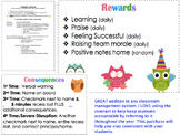 EDITABLE Classroom Management Contract (OWL THEMED)