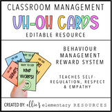 """EDITABLE - Classroom Management System - """"Uh-Oh Cards"""""""