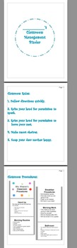 EDITABLE: Classroom Management binder template