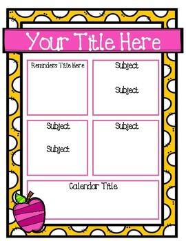 EDITABLE Classroom Newsletter Templates FREEBIE