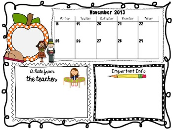 EDITABLE Classroom Newsletters (colorful holiday and season theme)