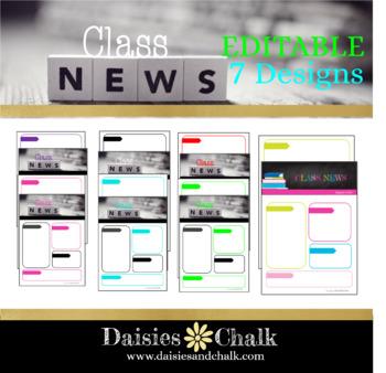 EDITABLE Classroom Newsletters for Upper Elementary
