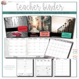 EDITABLE Teacher Binder: Spring in Paris {Google Drive Resource}