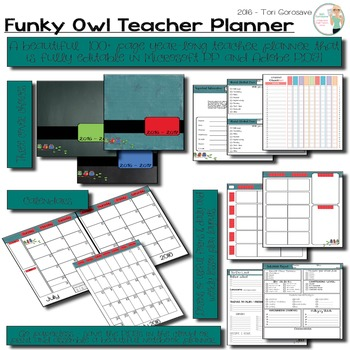 EDITABLE Classroom Organizer for School Teachers: Funky Owl Theme