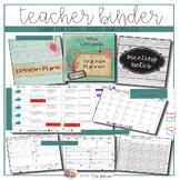 EDITABLE Teacher Binder: Seascape Shabby Chic {Google Drive Resource}