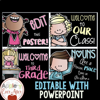 EDITABLE Classroom Posters