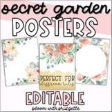 EDITABLE Classroom Posters - Secret Garden
