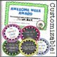 EDITABLE Classroom Reward Tokens & End of the Week Awards!