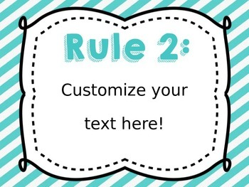 EDITABLE Classroom Rules [Black and Blue]