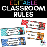 EDITABLE Classroom Rules in Bold Chevrons