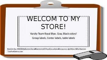 EDITABLE Classroom Supply Labels Varsity Team