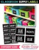 Classroom Supply Labels EDITABLE {Black Series}