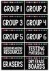 Classroom Supply Labels EDITABLE {Black Series}