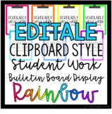 EDITABLE Clipboard Style Student Work Display Board - *Rai