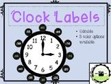 EDITABLE Clock Labels