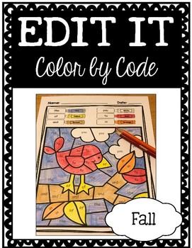 EDITABLE Color by Code: Fall